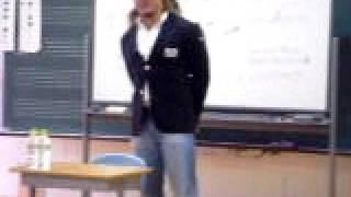 小学校で講演(棚橋 弘至)598 2010年2月 学校の先生の知り合い...