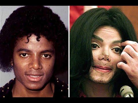 Los Cambios De cara de Michael Jackson   Michael Jackson Antes Y Después De sus operaciones