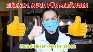 Mund-Nasen-Maske nähen - Deutschorden Apotheke Illerrieden