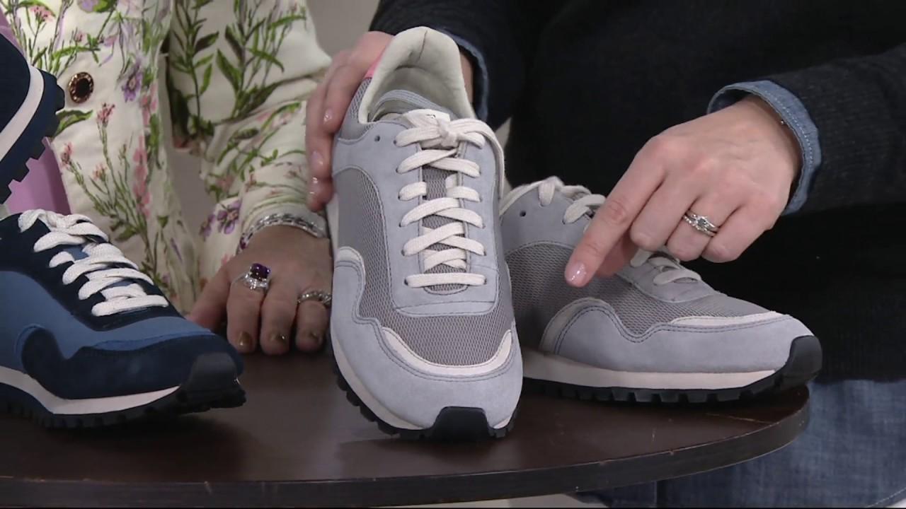 b1e5180d8db ED Ellen DeGeneres Suede   Fabric Sneakers - Farren 4 on QVC - YouTube
