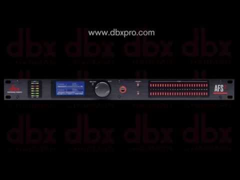 dbx AFS2 Advanced Feedback Suppression Processor - Simple Setup Video