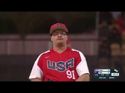HIGHLIGHTS USA V New Zealand - U-18 Men's Softball World Cup