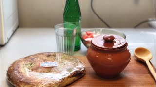 Жареный кролик с овощами в глиняном горшочке мукбанг mukbang eating show