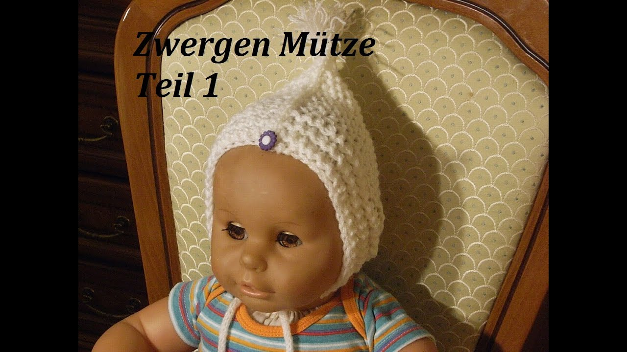 DIY Kindermütze stricken*Teil 1**Baby Mütze*einfach Stricken*Zwergen ...