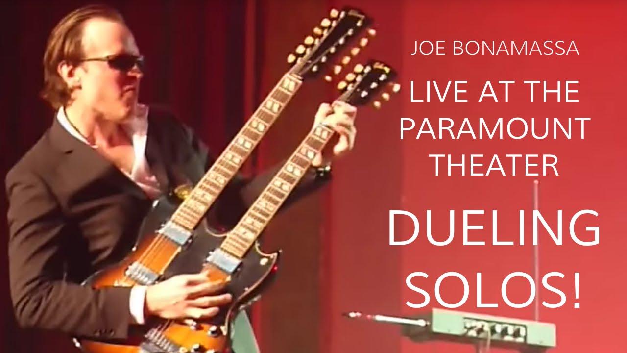 joe bonamassa live at the paramount theater dueling solos wildwood guitars youtube. Black Bedroom Furniture Sets. Home Design Ideas