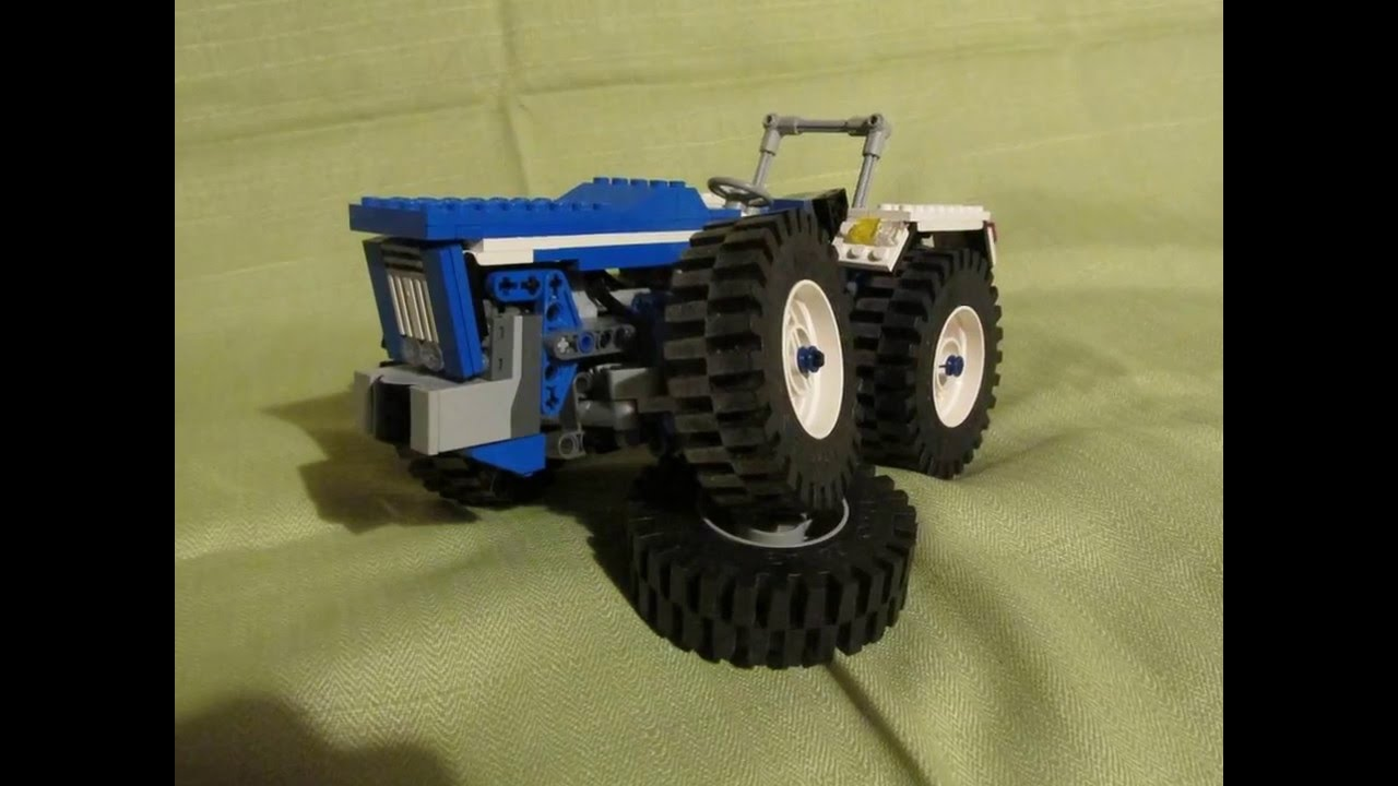 Ford New Holland >> Tractor Ford County 1124 Super Six Lego Technic MOC - YouTube
