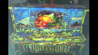 Pianist ELEW performs at Pop up Piano in Miami. Local artist paint ...
