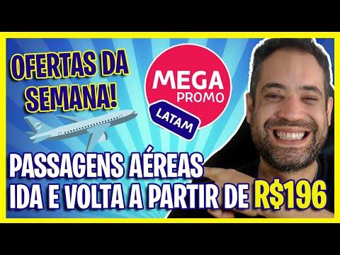 LATAM PASSAGENS AÉREAS RELÂMPAGO IDA E VOLTA A PARTIR DE R$196 HOJE!