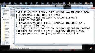 Cara flashing advan s45e dengan qgdp tool