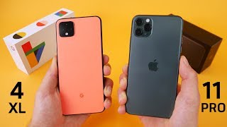 Google Pixel 4 vs iPhone 11 Pro Speed Test & Camera Comparison!