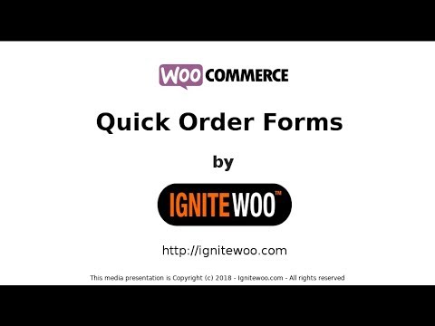 Woocommerce Quick Order Forms 4.x - Bulk Order Forms - Wholesale Order Forms