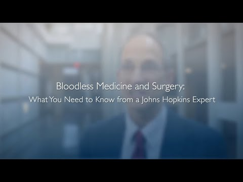 Bloodless Medicine and Surgery: What You Need to Know | Steven Frank, M.D.