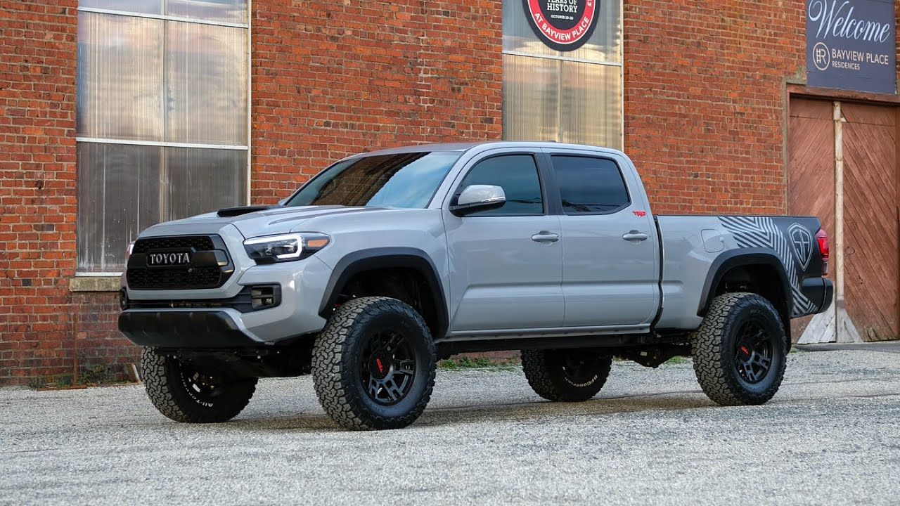 2018 Toyota Tacoma Trd Custom Lifted In Cement Grey Silver Arrow Trucks
