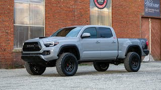2018 Toyota Tacoma TRD Custom Lifted in Cement Grey | Silver Arrow Trucks