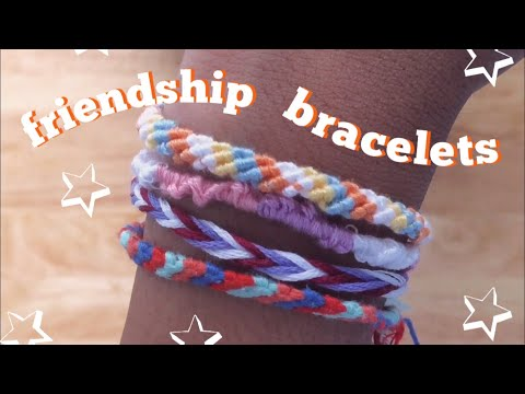 how-to-make-easy-friendship-bracelets!-(3-types)