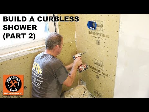 How to Build a Curbless Shower (Part 2: Waterproof Shower Walls) -- by Home Repair Tutor