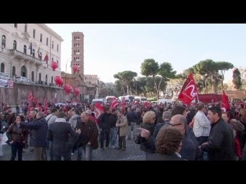 Anti-austerity marches throughout Italy