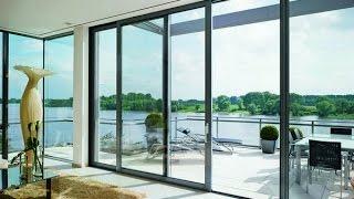 видео Алюминиевые двери со стеклопакетом