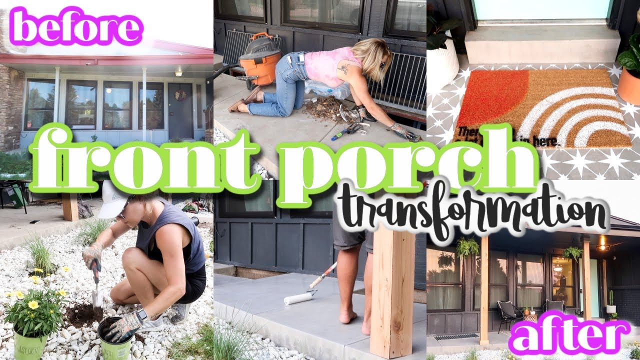 RENOVATING OUR RANCH FIXER UPPER | INSANE FRONT PORCH MAKEOVER! | BEFORE AND AFTER | DIY PROJECTS!
