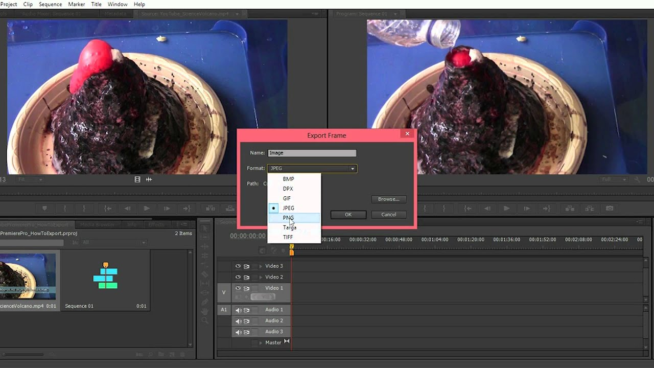 how to exportsave a single frame as an image in adobe premiere pro
