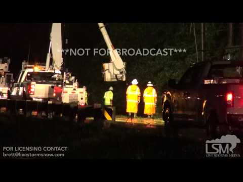 4-2-17-Alexandria, La Flash Flooding power crews restore car emerging from water to windshield