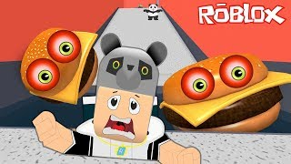 Canavar Hamburgerciden Kaa!! - Panda ile Roblox Entfliehen Sie dem Mcdonalds Obby!