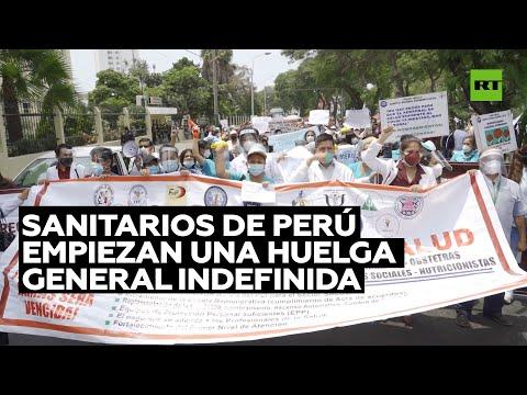 Sanitarios de Perú empiezan una huelga general indefinida