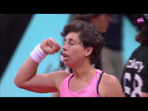 2017 Mutua Madrid Open Second Round | Carla Suarez Navarro vs Caroline Wozniacki | WTA Highlights