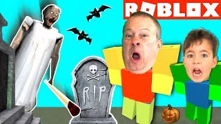GRANNY SCARED US at ROBLOX HAUNTED HOUSE! Amusement Theme Park - YG Gaming