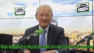 ONEGA: Rivera despertó con su pregunta el huracán de la tesis doctoral de Pedro Sánchez