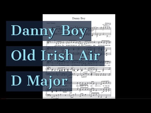 Danny Boy Piano Accompaniment Karaoke D Major Old Irish Folk Air