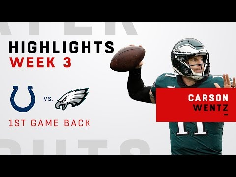 Carson Wentz Highlights in 1st Game Back from Torn ACL