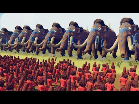 ATTACKING THE GIANT MAMMOTHS!!! - Totally Accurate Battle Simulator Gameplay