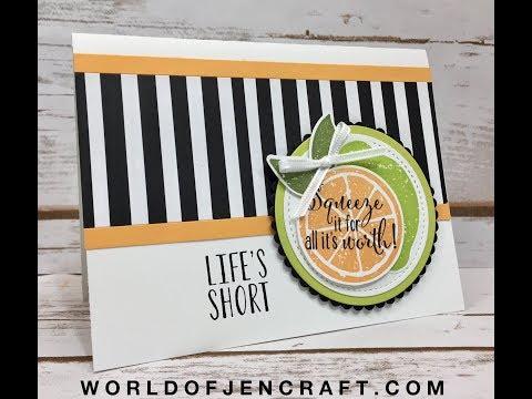 Stampin' Up! Lemon Zest Bonus Card Tutorial