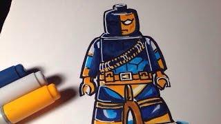 How to draw Lego Deathstroke - Lego Speed Draw #86