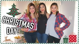 christmas w my family opening gifts vlogmas day 24 25