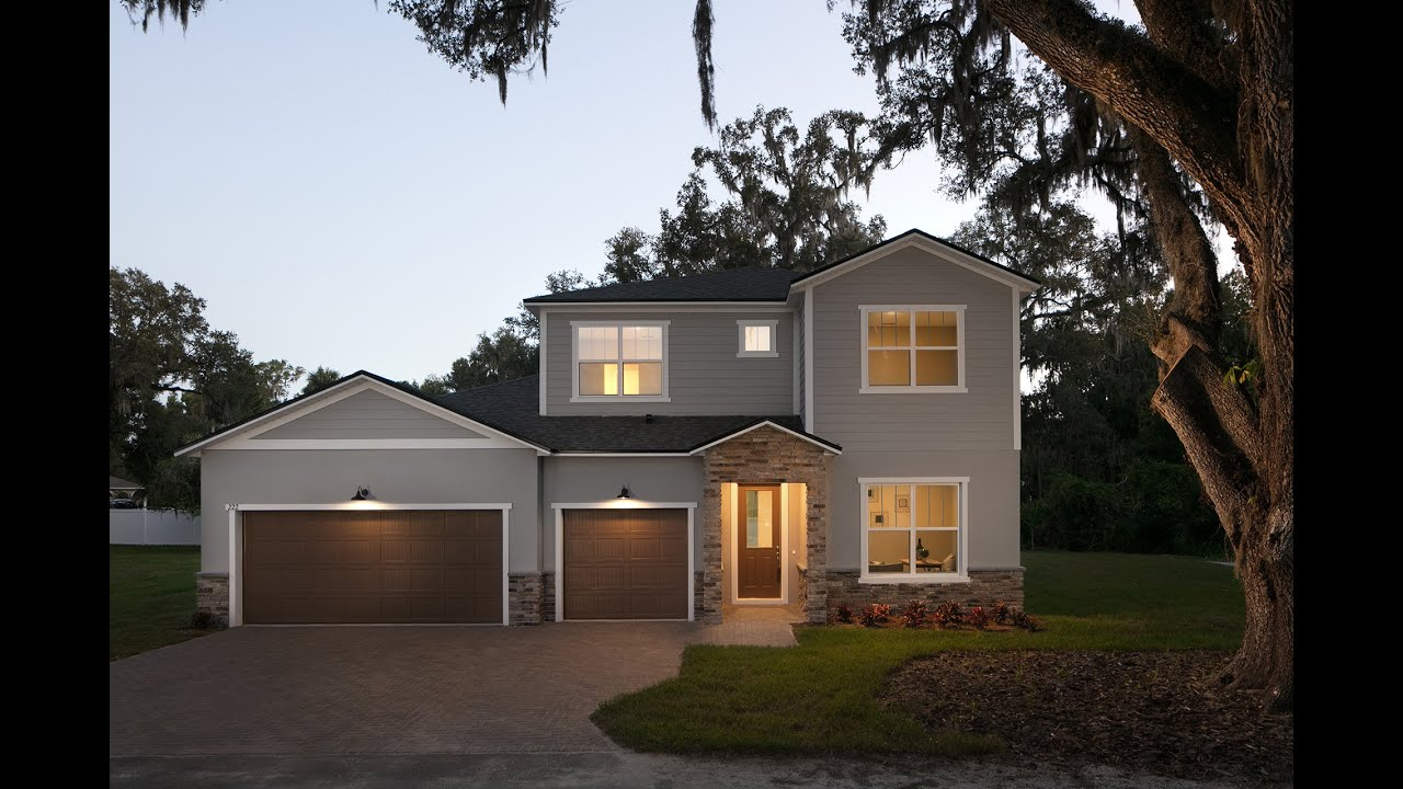 Incredible new construction home in Oviedo Florida. - YouTube