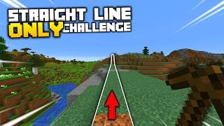 Minecraft, but I Can Only Walk in a Straight Line