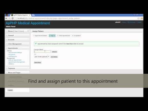 ApPHP Medical Appointment - Creating Appointment by Administrator