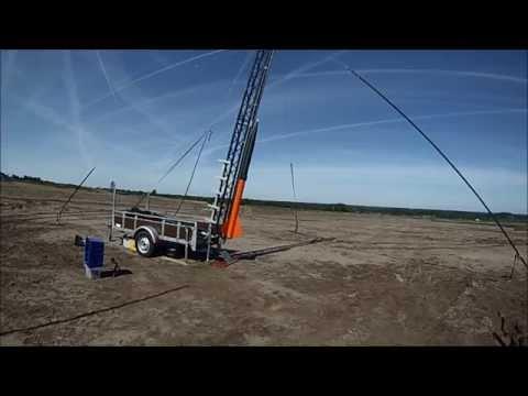 Intimidator 5 - experimental M class sugar rocket - Flight I