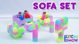Making of Sofa Sets with Building Blocks | Building Blocks for Children | Blocks for kids