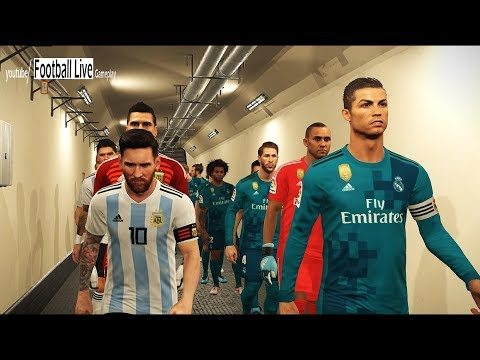 PES 2018 | Real Madrid vs Argentina | Interesting Football Match | Gameplay PC