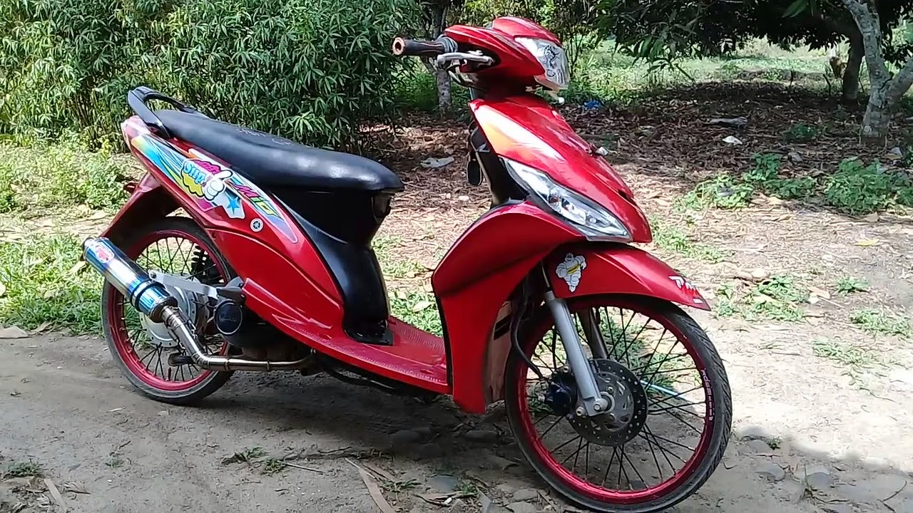 Modifikasi Motor Mio Sporty Warna Merah Otomotif Modifikasi