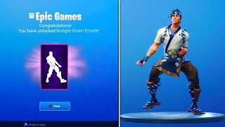 HOW TO UNLOCK *FREE* BOOGIE DOWN EMOTE! - Fortnite Battle Royale Boogie Down Emote UNLOCKED!
