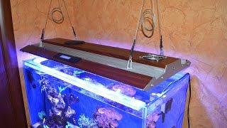 Как сделать светодиодный светильник для аквариума своими руками. DIY LED Aquarium Light(Размер аквариума 80х40х45(в) см. Использовались светодиоды CREE 3Вт: белый - 8шт. (6000-8000K), blue - 8шт. (470-480nm), royal blue..., 2016-02-24T16:59:42.000Z)