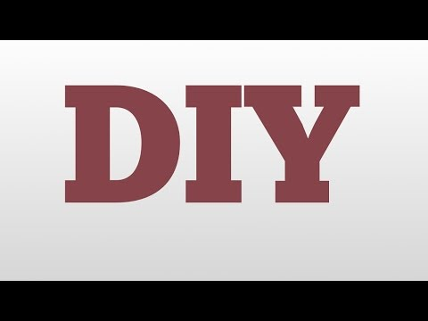 DIY meaning and pronunciation