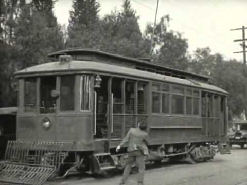Harold Lloyd drives a Pacific Electric trolley in Girl Shy (1924)
