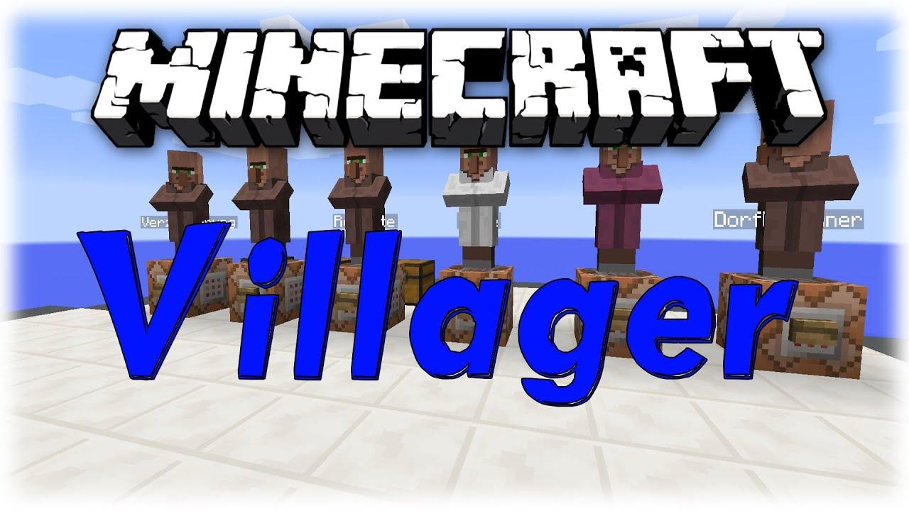 Minecraft Tutorial Command Block Villager Angebote Erstellen - Minecraft dorfbewohner bauen hauser mod
