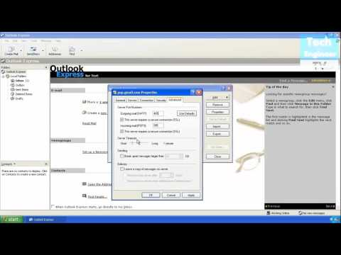 Configure Email In Outlook Express Of Windows XP