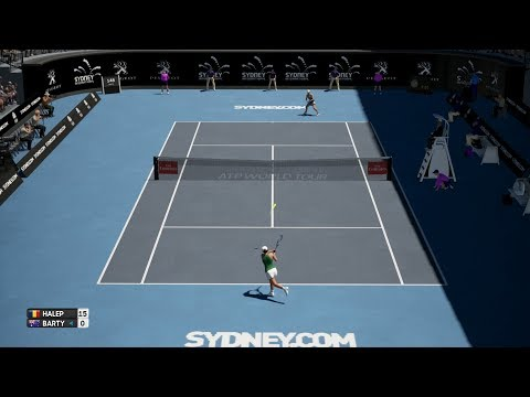 AO International Tennis - Simona Halep vs Ashleigh Barty - PS4 Gameplay